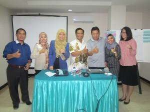 bersama peserta dari Petrokimia gresik dan jamkrindo