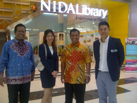 in front of the Nida's library